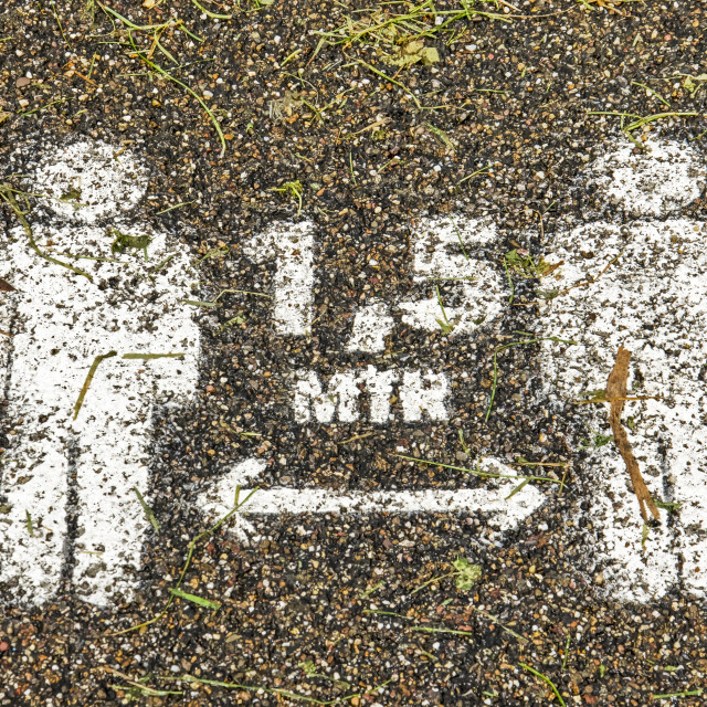 """""""Social distancing on footpath"""" stock image"""