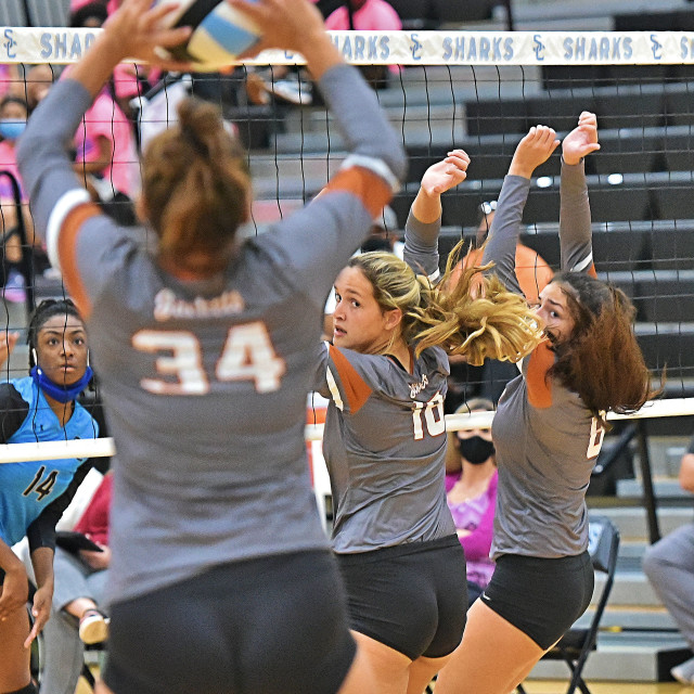 """Alvin vs Shadow Creek Volleyball"" stock image"