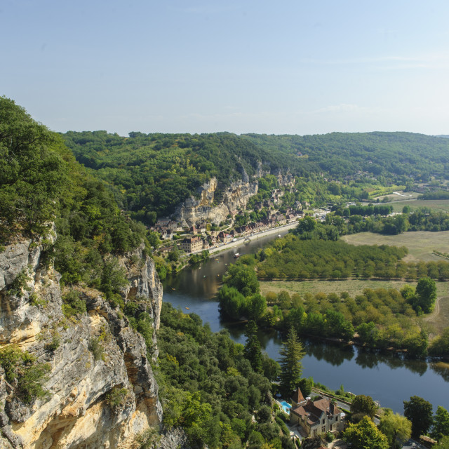 """The River Dordogne, France: Cliff Top View"" stock image"