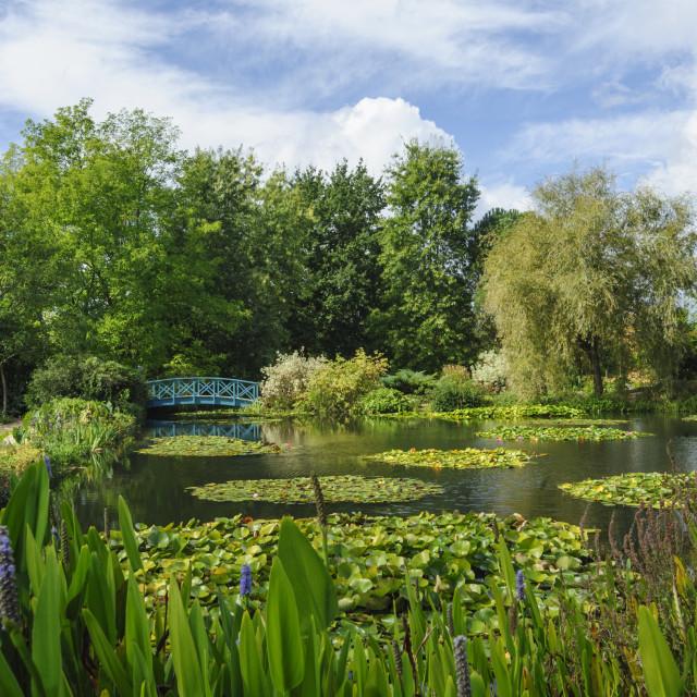 """""""Les Jardins d'Eau, Dordogne, France"""" stock image"""