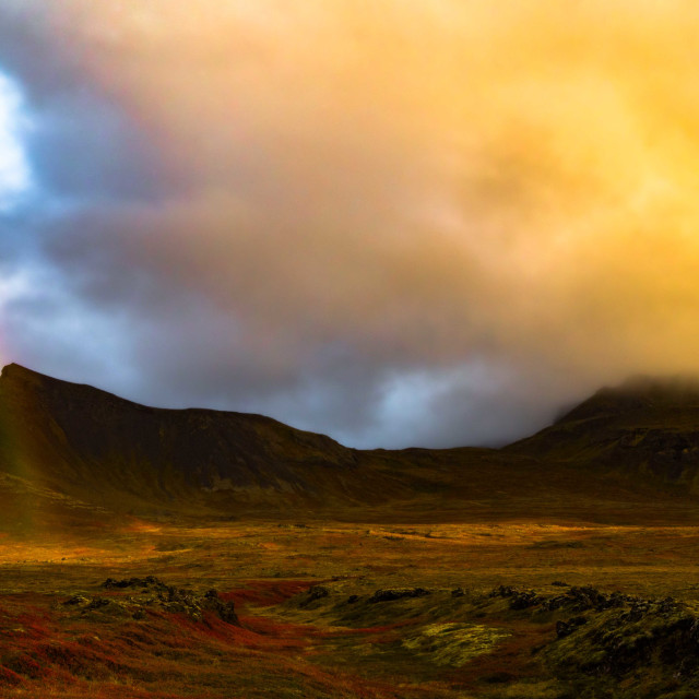 """""""Rainbows and Volcanoes of Iceland"""" stock image"""
