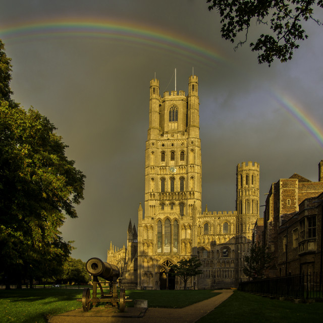"""Ely Cathedral, Cambridgeshire"" stock image"