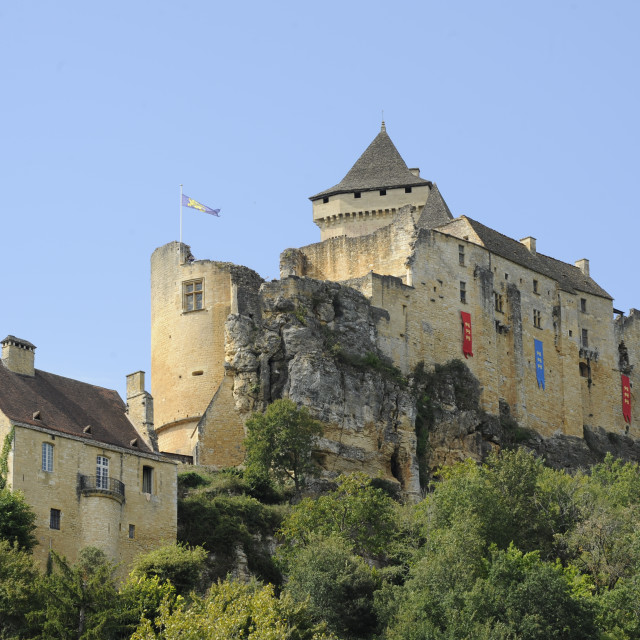 """Chateau Castelnaud, Dordogne, France"" stock image"