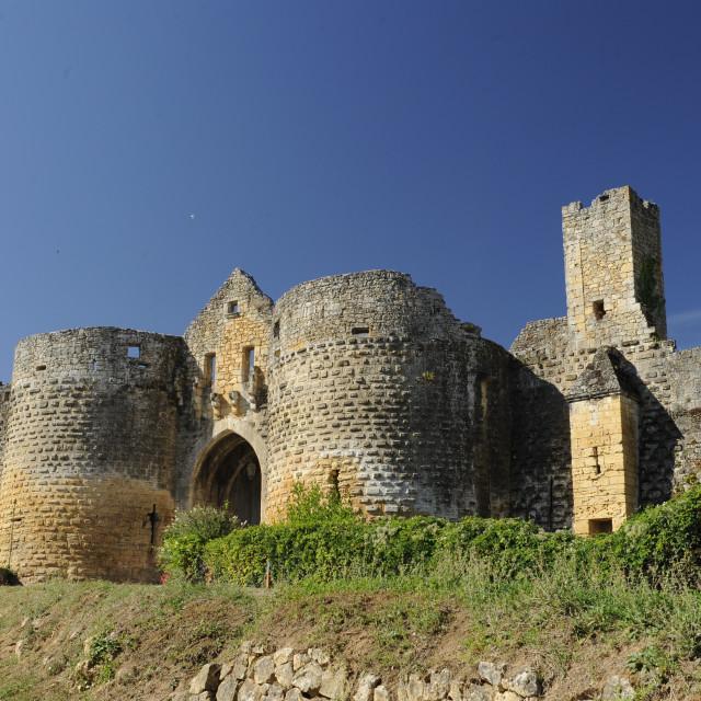 """""""Domme, fortified bastide, Dordogne, france"""" stock image"""