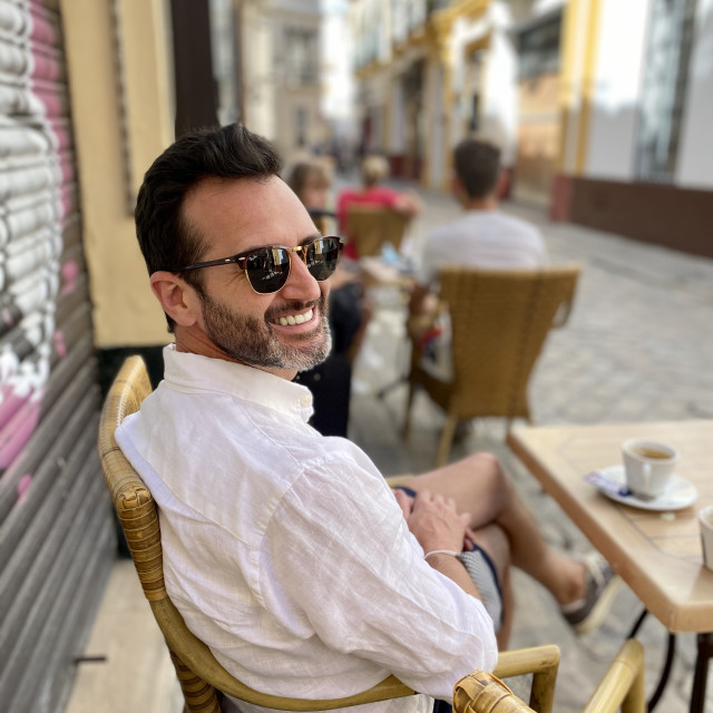 """""""Coffee time in Seville"""" stock image"""