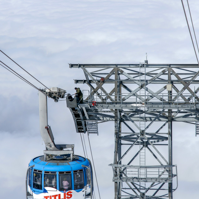 """Mount Titlis Rotair, Engelberg, Switzerland"" stock image"