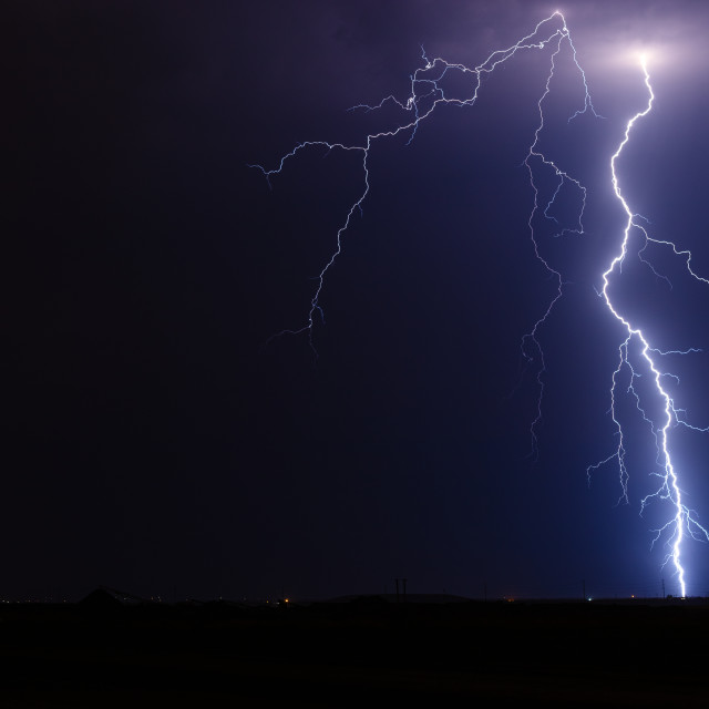 """Thunderstorm lightning bolt"" stock image"