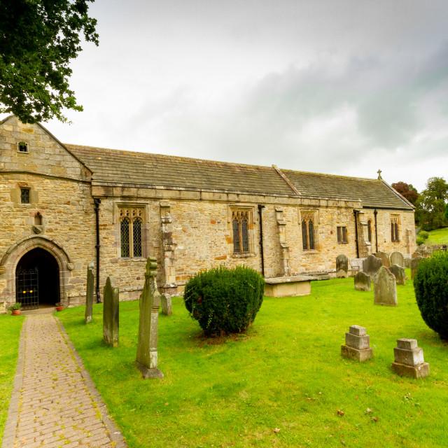 """Parish Church of Saint Agatha, Easby, near Richmond, North Yorkshire."" stock image"
