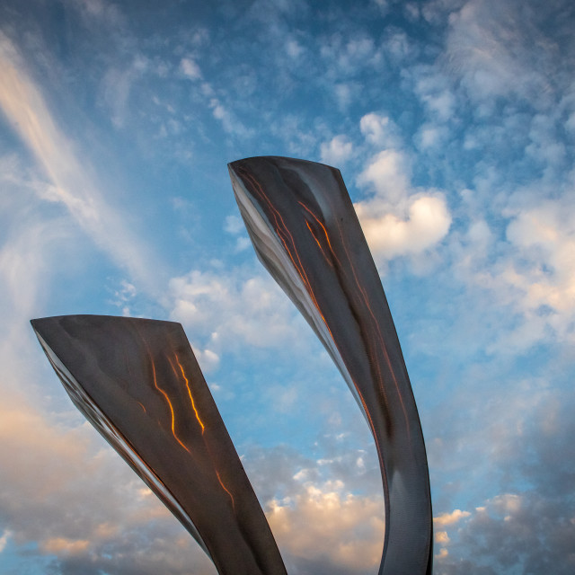 """""""Sculpture soaring into the sky"""" stock image"""