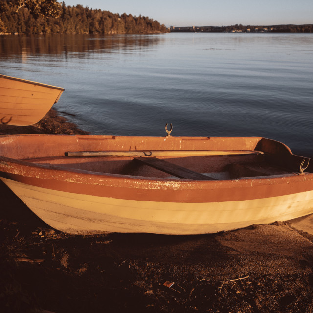 """""""Rowing Boat In The Sunlight I"""" stock image"""