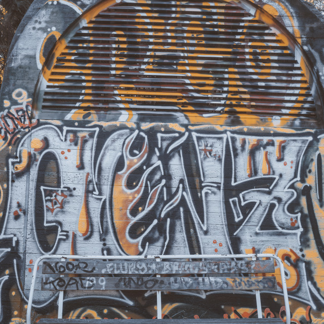 """""""Ventilator Covered With Graffitis I"""" stock image"""