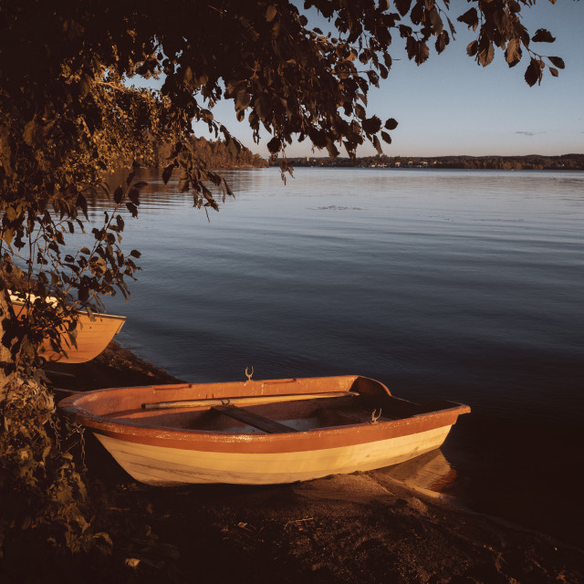 """""""Rowing Boat In The Sunlight II"""" stock image"""