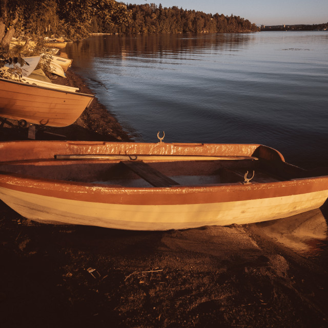 """""""Rowing Boat In The Sunlight III"""" stock image"""