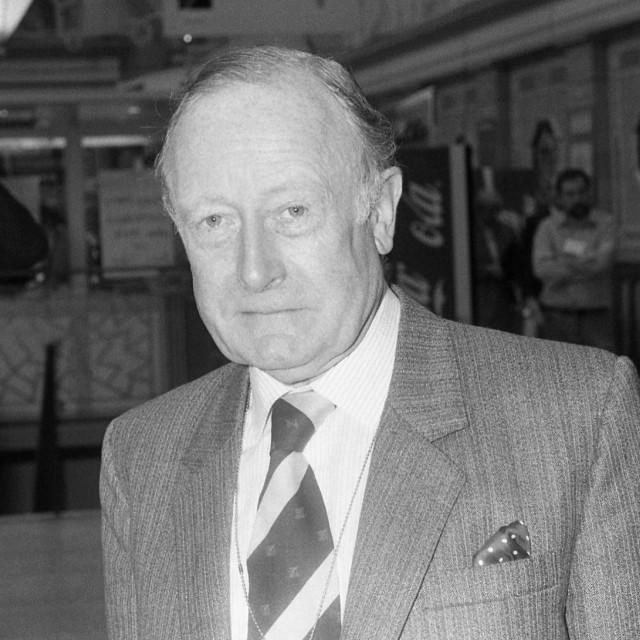 """Sir Giles Shaw, politician"" stock image"