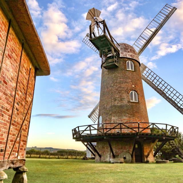 """Wilton Windmill"" stock image"