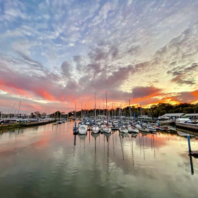 """Swanwick Sunset"" stock image"
