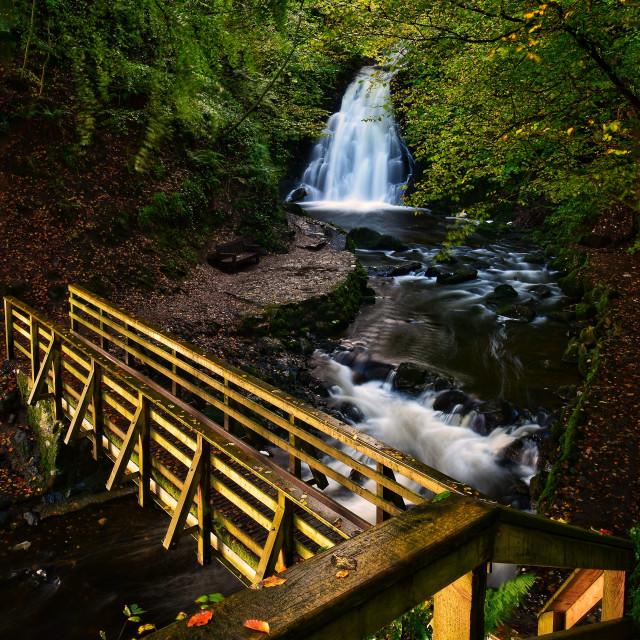 """Gleno Falls"" stock image"