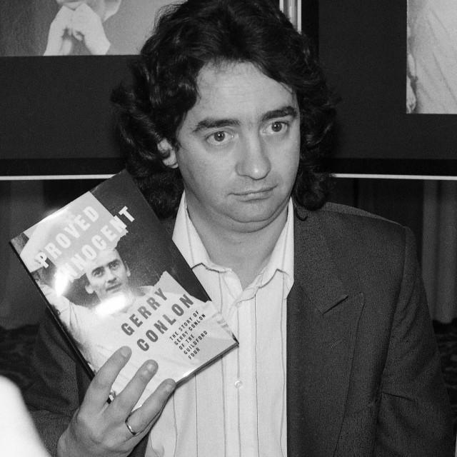"""Gerry Conlon press launch"" stock image"