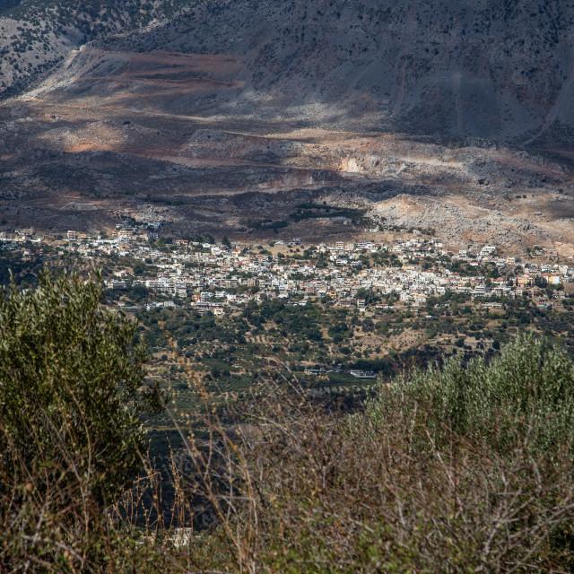 """Gergeri Village Crete"" stock image"