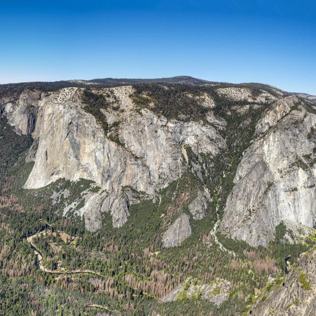 """Yosemite Taft Point Lookout"" stock image"