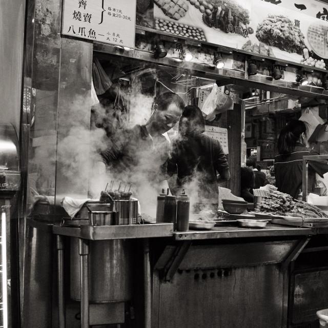 """""""Food Stall in Hong Kong"""" stock image"""