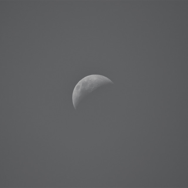 """Half moon B&W"" stock image"