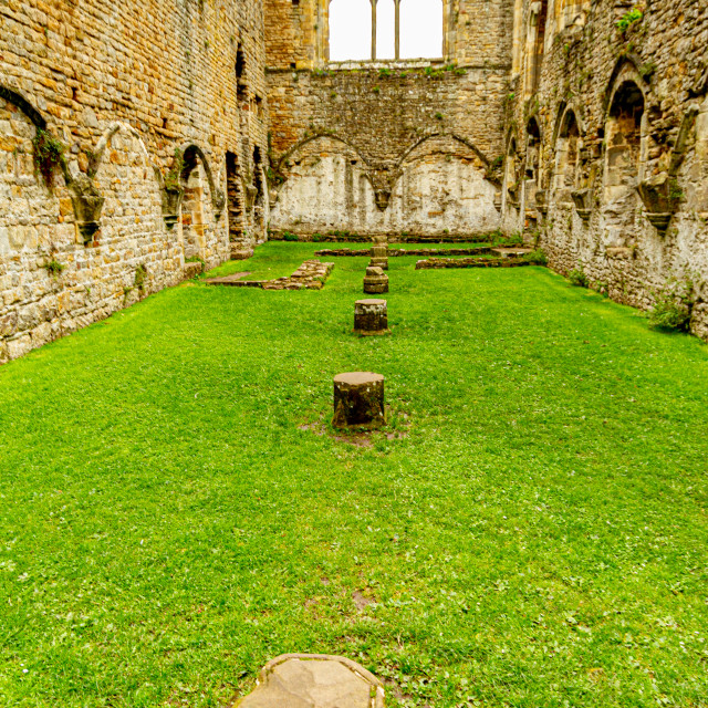 """Easby Abbey, The Abbey of Saint Agatha"" stock image"
