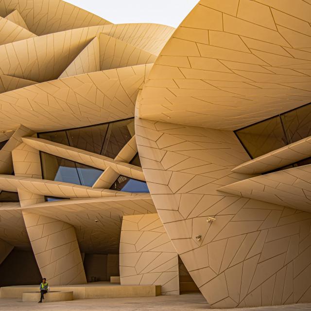 """NATIONAL MUSEUM OF QATAR"" stock image"