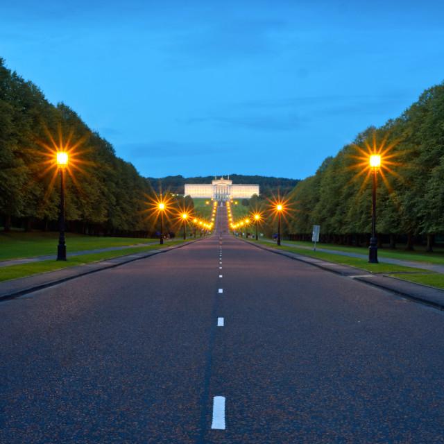 """""""Stormont Buildings, Belfast"""" stock image"""