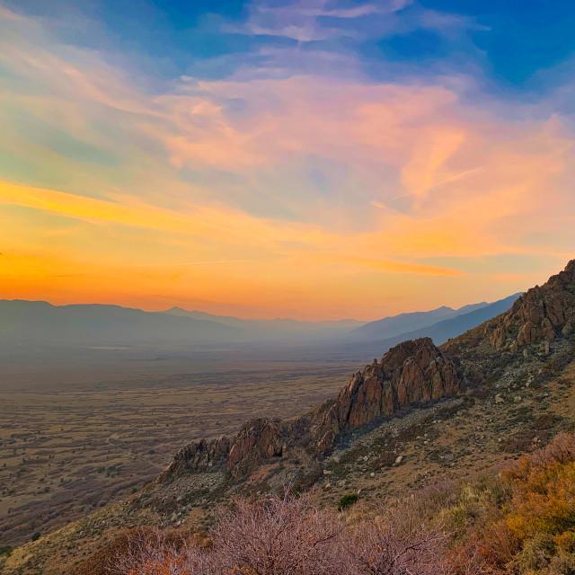 """San Luis Sunset 1"" stock image"