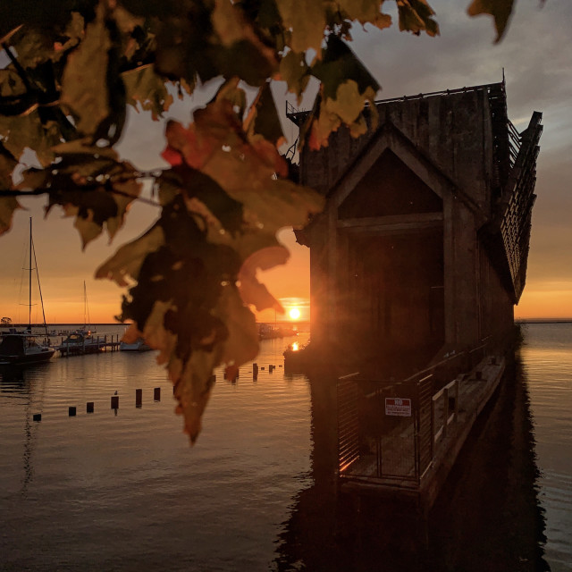 """Ore Dock in Autumn"" stock image"