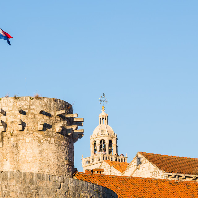 """""""Croatian flag on Large Governors Tower"""" stock image"""