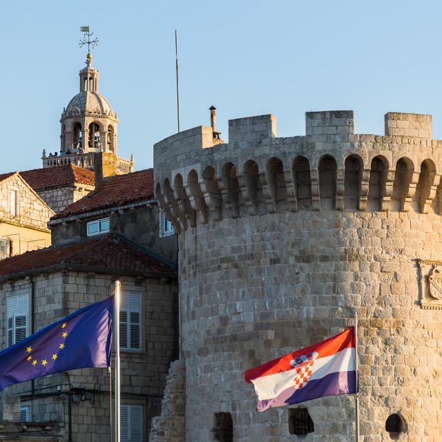 """Crown of Kanavelic tower"" stock image"