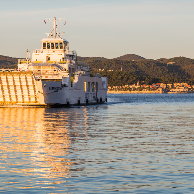"""""""Car ferry from Korcula"""" stock image"""