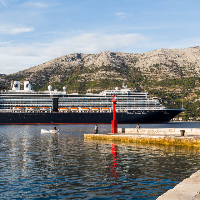 """Holland America Line cruise ship"" stock image"