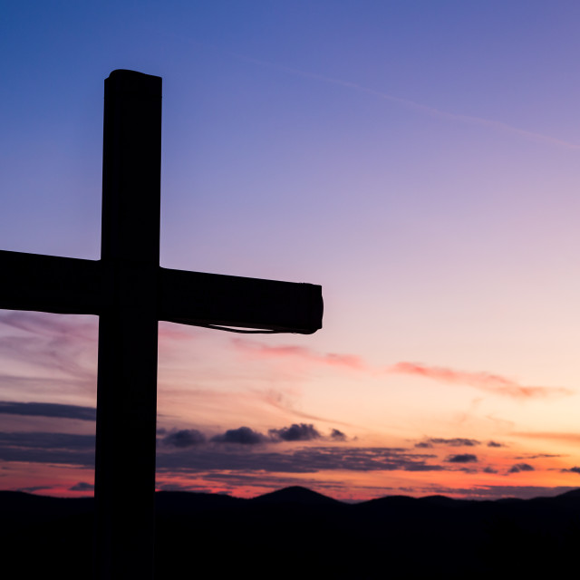 """""""Silhouette of a large cross"""" stock image"""