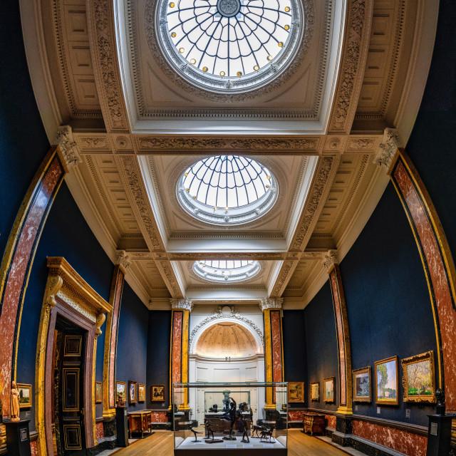 """""""Fitzwilliam Museum, Cambridge UK."""" stock image"""