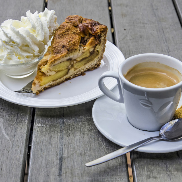 """""""Coffee with apple pie"""" stock image"""
