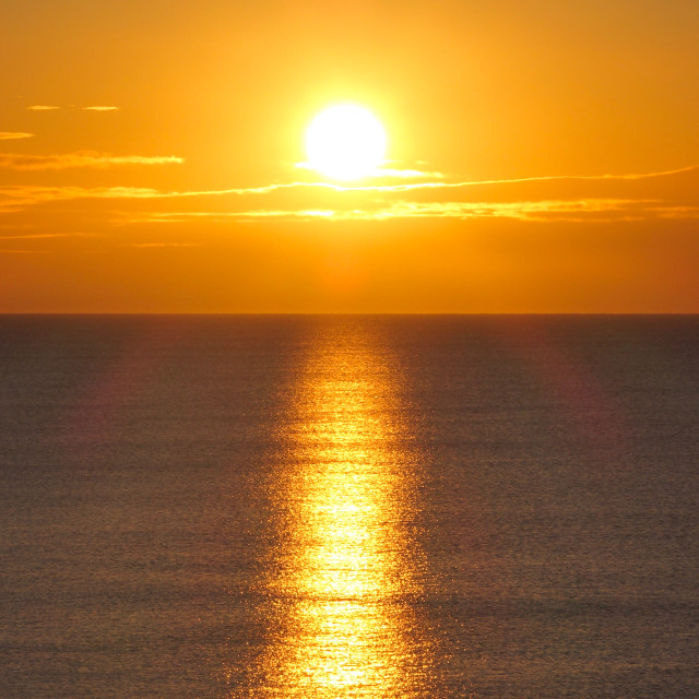 """Golden Sunrise ( Widescape Format )"" stock image"