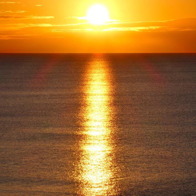 """Golden Sunrise ( Portrait Format )"" stock image"