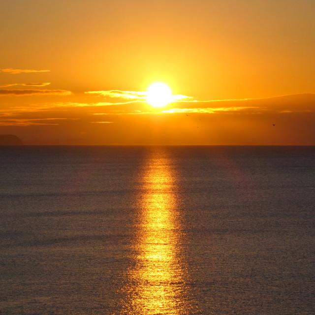 """""""Golden Sunrise ( Landscape Format )"""" stock image"""