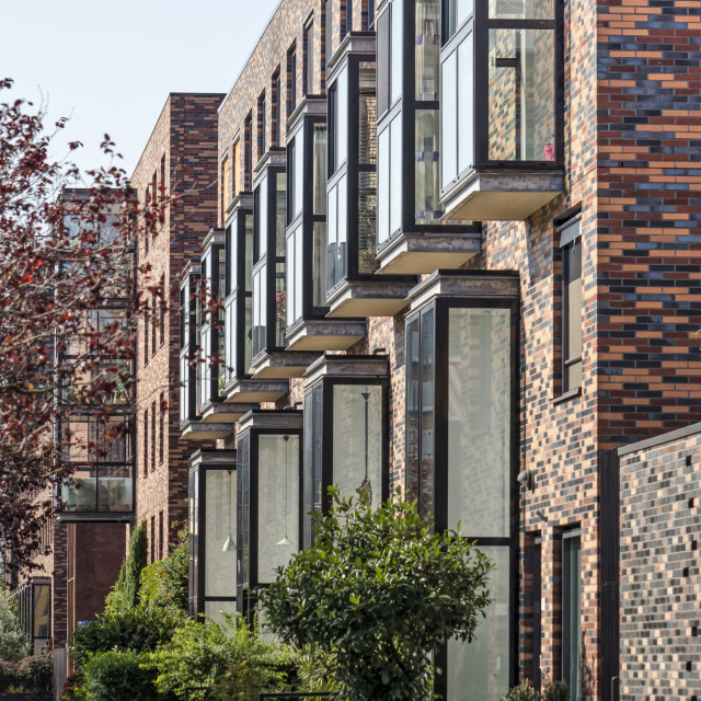 """""""Modern townhouses in Rotterdam"""" stock image"""
