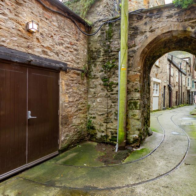 """Friars Wynd, Tramlines,Richmond, UK"" stock image"
