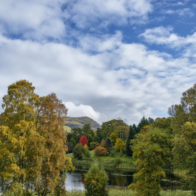 """Airthrey loch at Stirling University Campus"" stock image"
