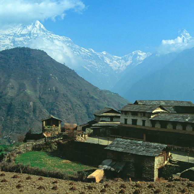 """Himalayan Village"" stock image"