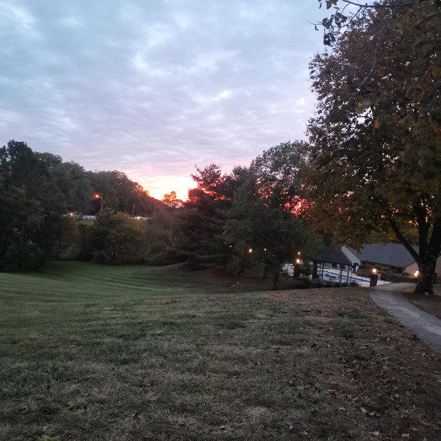 """""""Sunset in the surburbs"""" stock image"""
