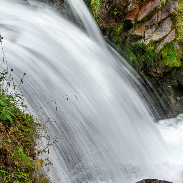 """""""Waterfall detail with long exposure technique"""" stock image"""