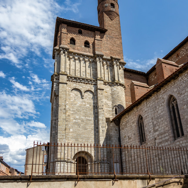 """The Saint-Salvi Collegiate Church in Albi, France. A World Heritage Site since 2010."" stock image"