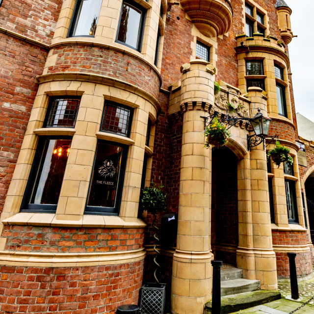 """Fleece Hotel, Richmond, Yorkshire, UK"" stock image"