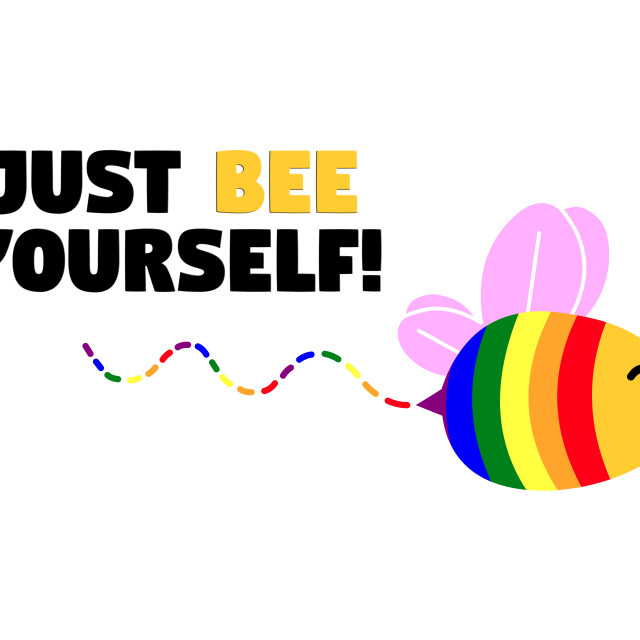 """""""Gay pride be yourself"""" stock image"""